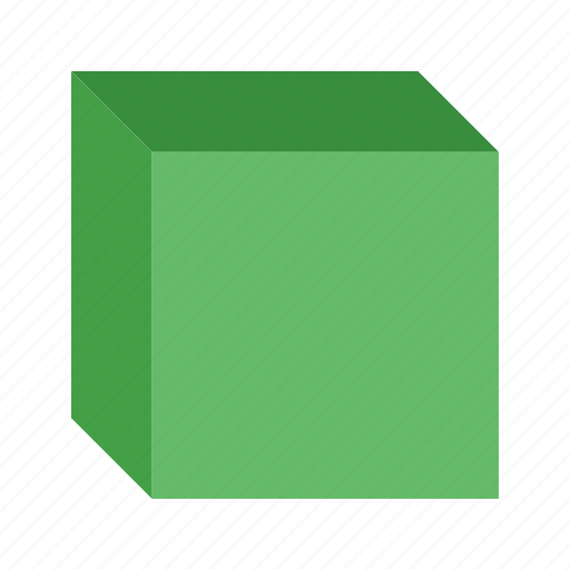 cube, education, math, mathematical, number, sketch, square icon