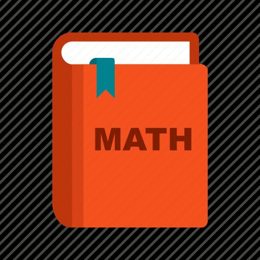 book, college, education, knowledge, mathematics, school, study icon