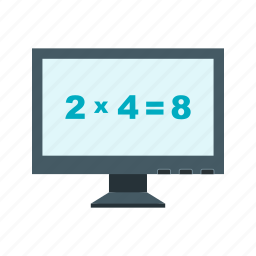computer, digital, education, maths, screen, tablet, technology icon