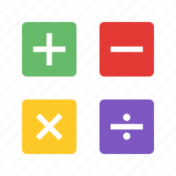 add, algebra, learning, mathematics, science, signs, subtract icon