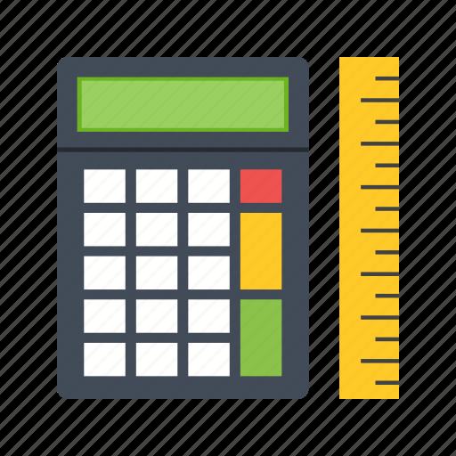 calculate, calculator, graph, measure, paper, statistics, work icon