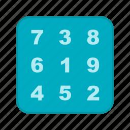 algebra, calculate, education, formula, number, school, study icon