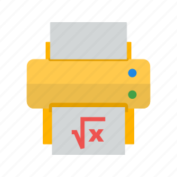 function, graph, mathematics, numbers, paper, print, spreadsheet icon