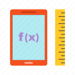 calculus, equation, formulas, function, mathematical, number, science icon