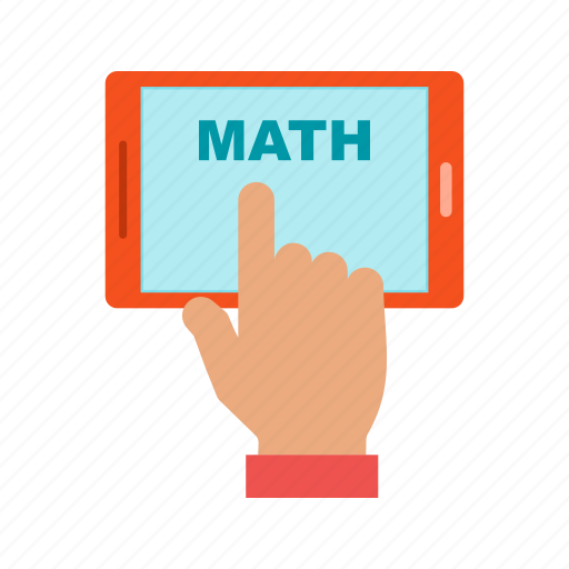 calculate, digital, education, internet, maths, mobile, screen icon