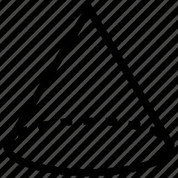 cone, draw, drawing, geometric shape, geometry, shape icon