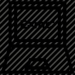 computer screen, einstein formula, emc, emc2, physics formula, theory, theory of relativity icon