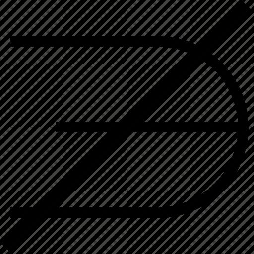 math, math sign, math symbol, mathematical symbol, not an element icon