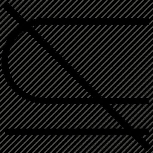 math, math symbol, mathematics, not equal, not equal symbol, not subset icon