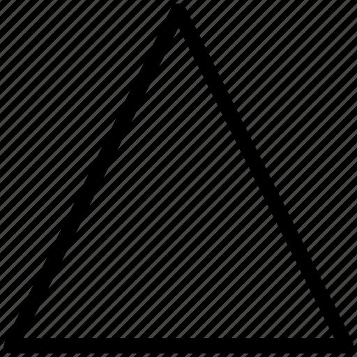 algebra symbol, change, delta, different, discriminant, math, triangle, triangle shape icon