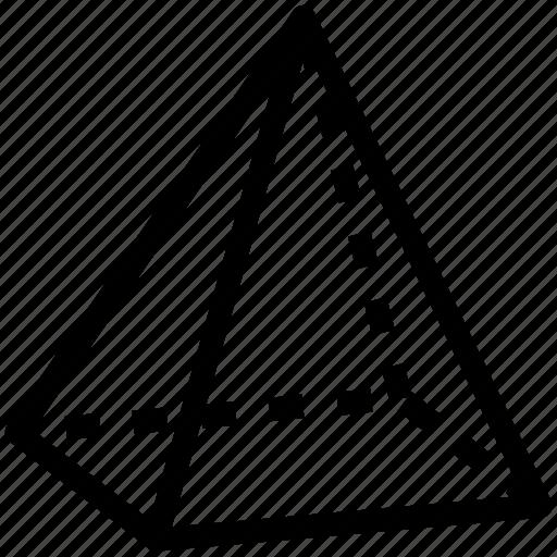 geometry, math, pyramid, pyramid shape, shape icon