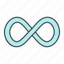 endless, eternity, infinite, infinity, mathematics, maths, sign icon