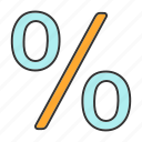 discount, math, mathematics, off, percent, percentage, sale icon