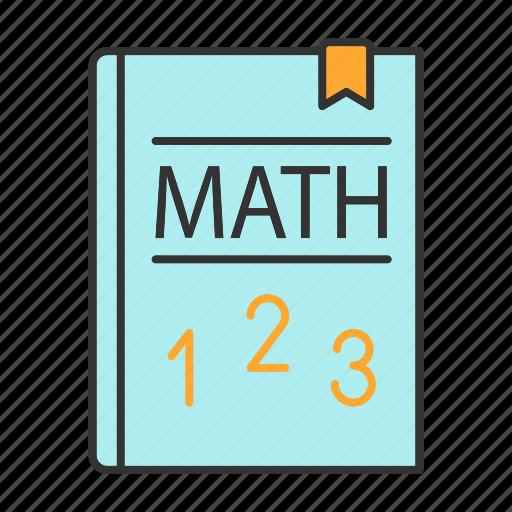 elementary math, math, mathematics, maths, numbers, school, textbook icon