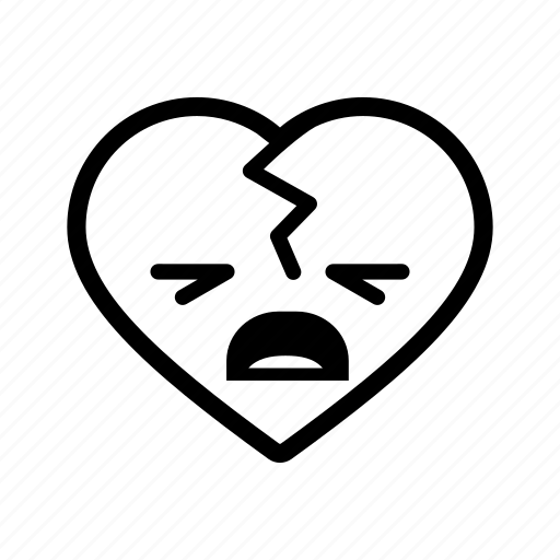attack, broken, emoji, emotion, heart, love, romantic icon