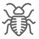 bed, bed bug, bug, insect, mattress icon