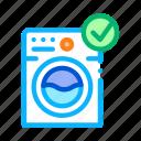 electronic, laundry, machine, washing