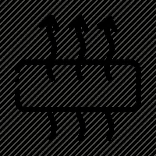 arrows, breathable, mattress, orthopedic icon