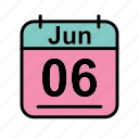 calendar, date, jun, june, schedule icon, tu icon