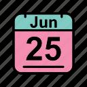 calendar, date, jun, june, schedule icon, su icon