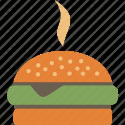 fast, food, hamburger, meal icon