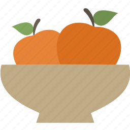 apple, food, meal, plate icon