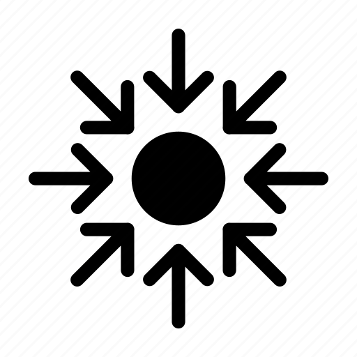 collapse, compressed, limited, smaller icon