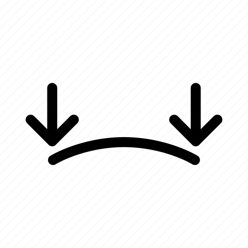 bend, camber, curve, reflex icon