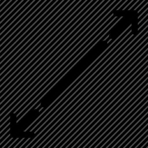 elongate, lengthen, prolong, stretch icon
