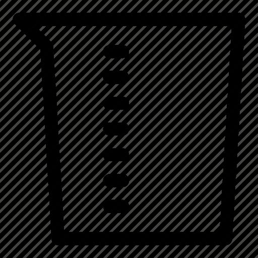 beaker, glass, glassware, litre, measure, volume icon