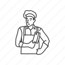 butcher, chop, cook, cut, food, kitchen, meat icon