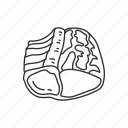 food, meat, meat cut, pork, pork meat, roast, sirloin pork roast icon