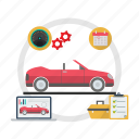 checkup, engine, car checkup, service, car, mechanic