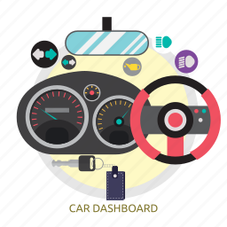 car, car dashboard, dashboard, rpm, speed, speedometer icon