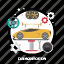 car, car modification, creative, design, modification, part icon