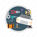 automotive, car, car service, concept, engine, service icon