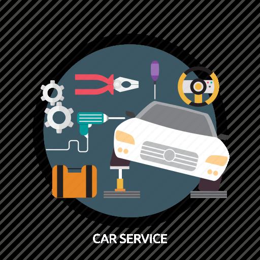 automotive, car, car service, concept, engine, service icon