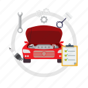 car, car tuneup, motor, repair, technician, tuneup icon
