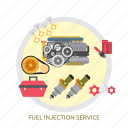 fuel, fuel injection service, injection, service icon