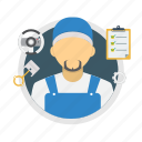 maintenance, male, man, mechanic, mechanic man, service, worker icon