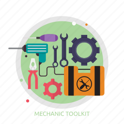 mechanic, mechanic toolkit, toolkit icon