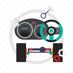 power, power steering service, service, steering icon