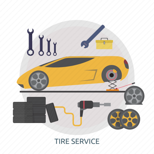 mechanic, repair, safety, service, tire, tire service, vehicle icon