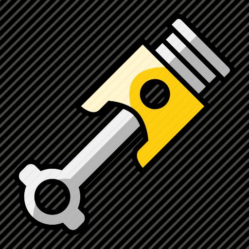 automobile, car, mechanic, part, piston, tool, vehicle icon