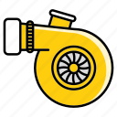 boost, car, mechanic, mechanical, part, speed, turbo icon