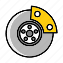 auto, brake, braking, calipers, calliper, elements, mechanic icon