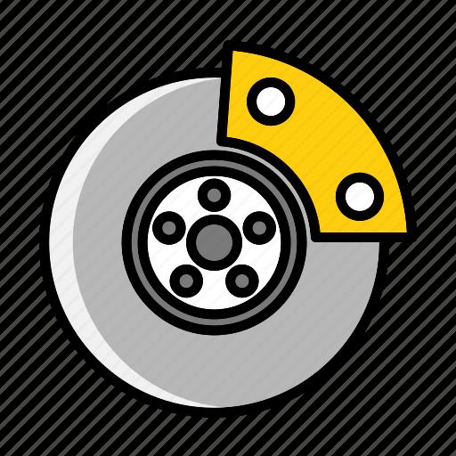 auto, brake, braking, calipers, calliper, elements, mechanic icon