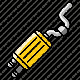 car, elements, exhaust, mechanic, part, tool, vehicle icon