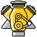 car, engine, mechanic, motor, repair, tool icon