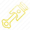 car, mechanic, part, piston, tool, vehicle icon